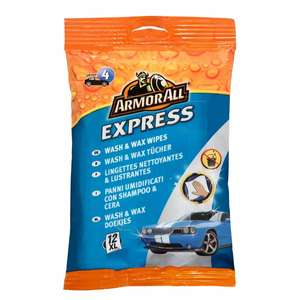 Armorall Express Wash And Wipes (12x Extra Large) for £2.45 click & collect @ Euro Car Parts