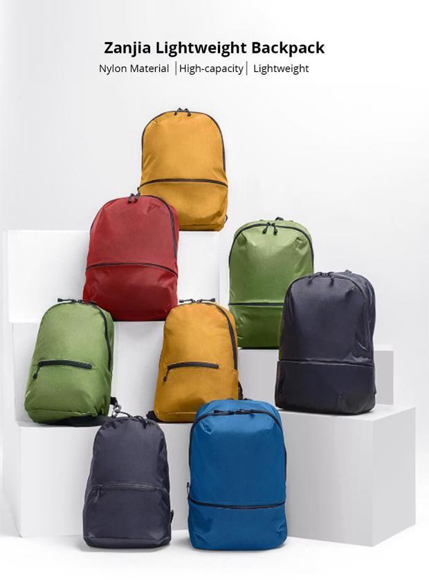 Xiaomi Zanjia Waterproof 11L Lightweight Backpack - Black £4.81 @ Geekbuying