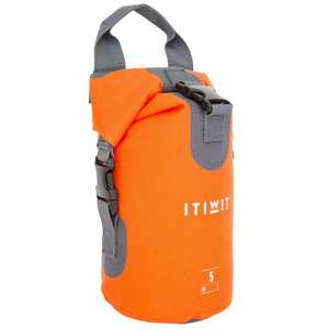 ITIWIT 5L Watertight Duffel Bag Without A Shoulder Strap - Orange for £2.99 @ Decathlon (Free click+collect)