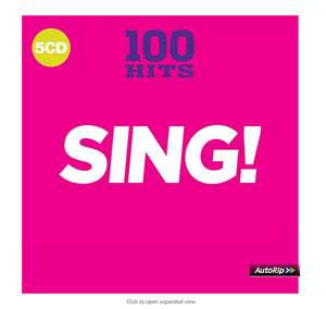 100 Hits - SING! 5CD £4.89 prime / £5.88 non prime @ Amazon