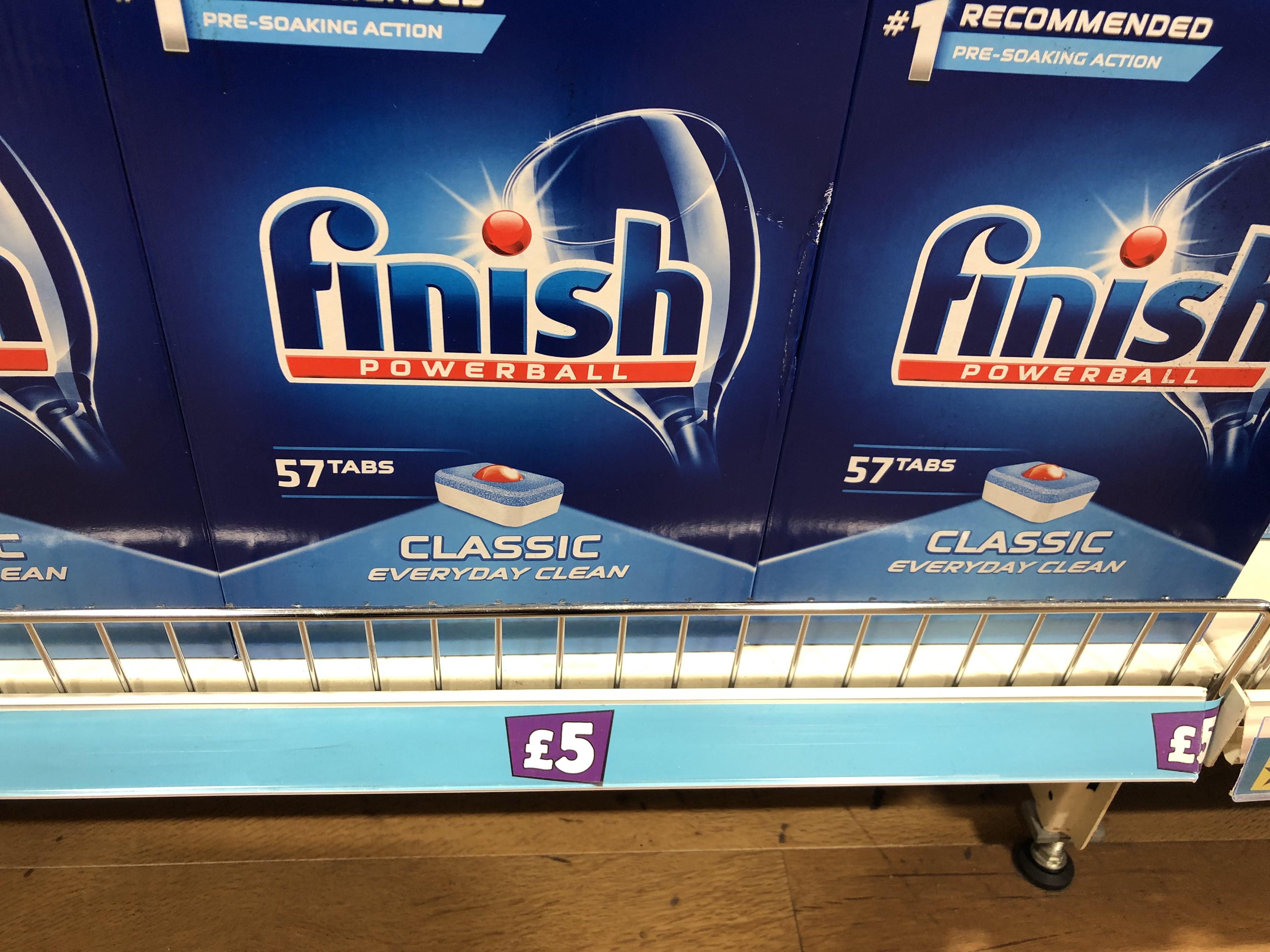 Finish Dishwasher Tablets 57 Tabs - £5 @ Poundland