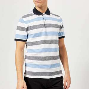 Michael Kors - Men's XS White & Blue Striped Polo Shirt - £18.99 click and collect @ TK Maxx
