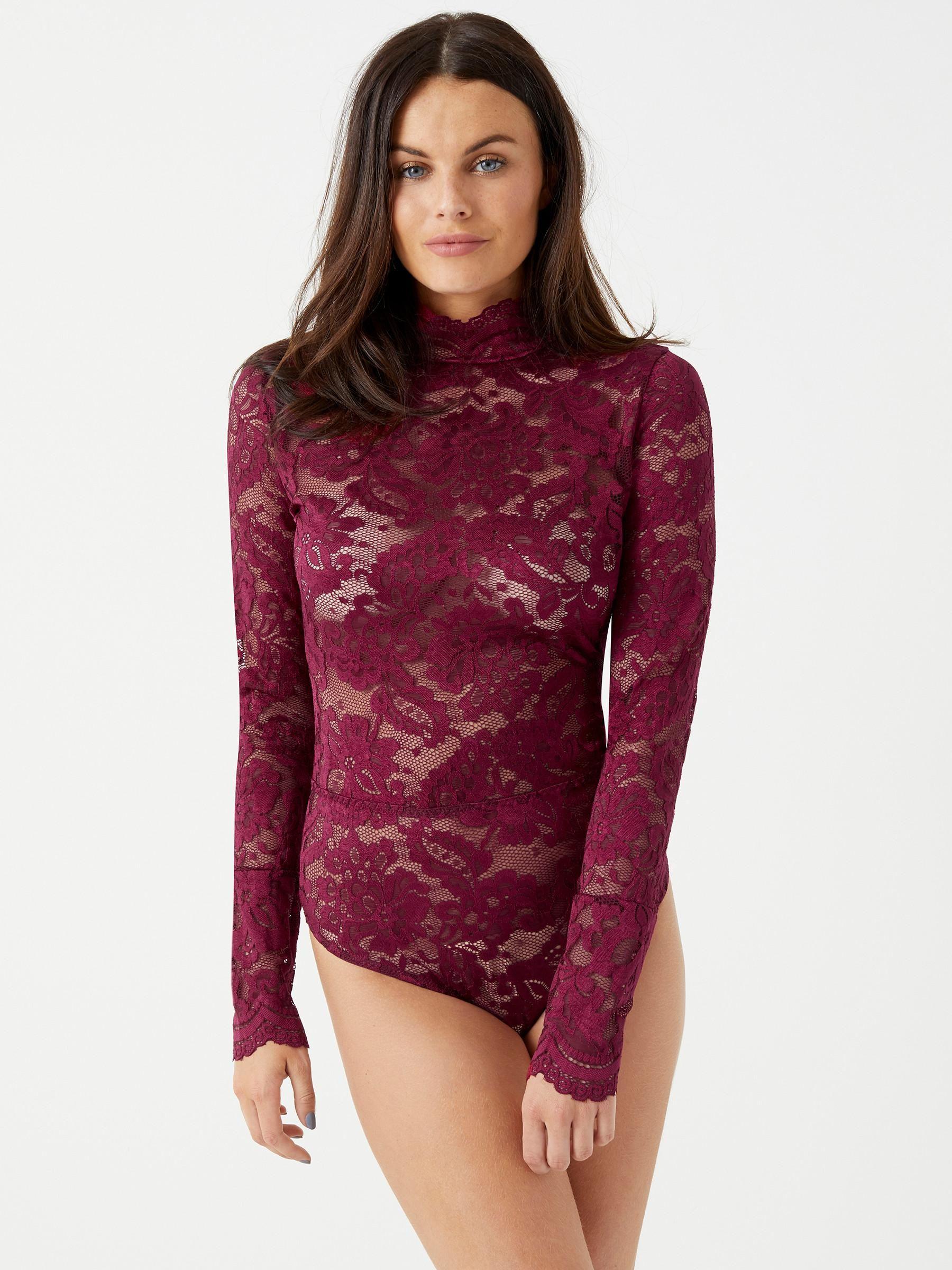 Lipsy Burgundy bodysuit £12 @ Ann Summers (Free C&C)