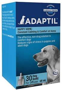 ADAPTIL Calm 30 day Refill, helps dogs cope with life challenges - 48ml £12.05 @ Amazon (+£4.49 Non Prime)