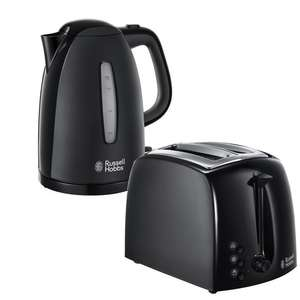 25% Off When You Buy Any Russell Hobbs Kettle & Toaster - EG: Textures Kettle & Toaster In Black £22.48 @ Argos - Free Click & Collect