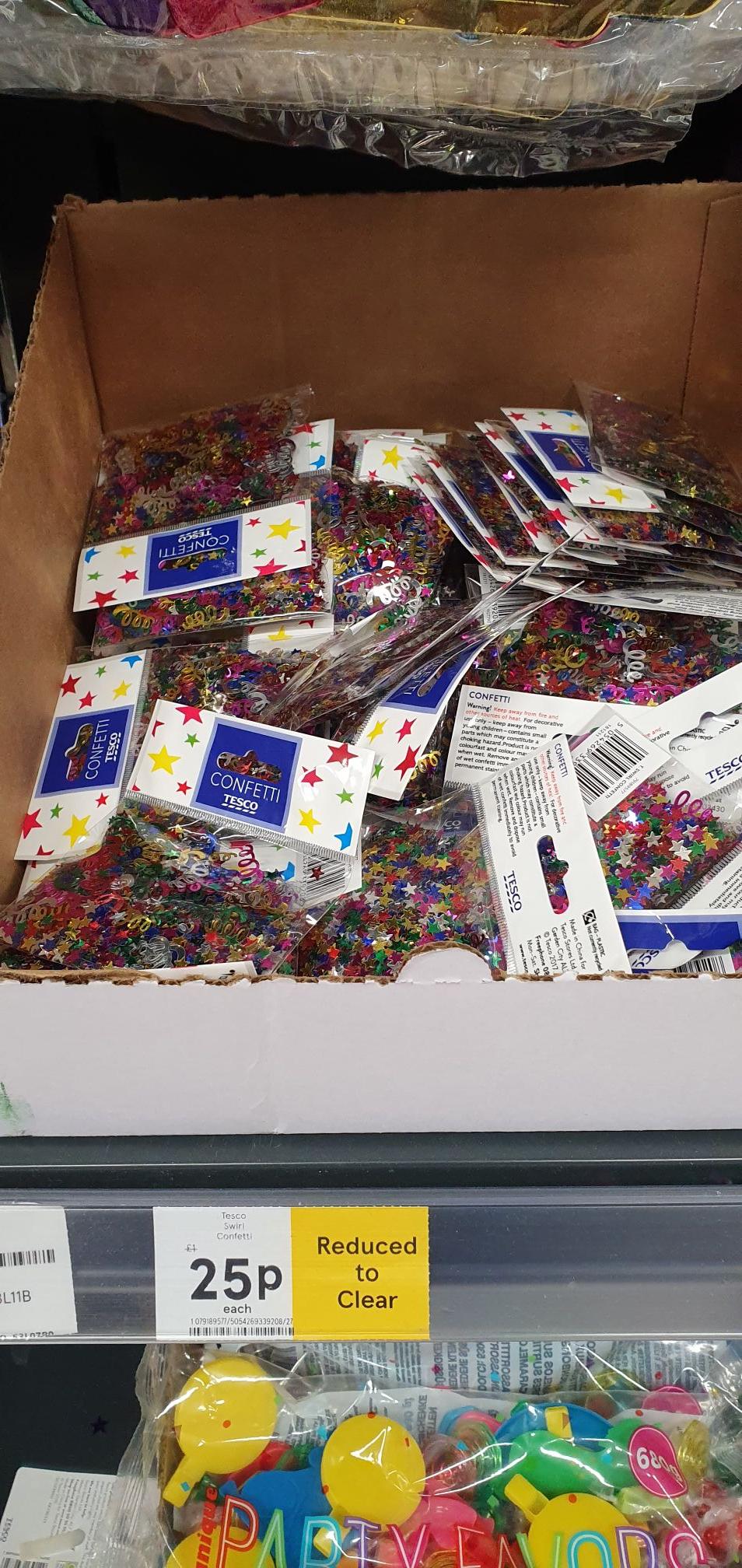 Tesco Swirl Confetti reduced to 25p @ Tesco Instore