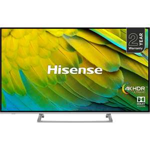 "Hisense H55B7500UK 55"" Smart 4K Ultra HD TV with HDR10, Dolby Vision and Freeview Play £379 with 2 year warranty £379 @ AO"