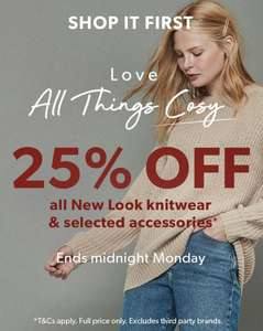 25% Off All New Look Knitwear & Selected Accessories @ New Look