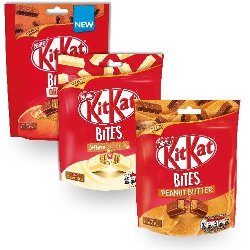 Kit Kat Bites Peanut Butter, Orange, White Chocolate Pouch 79p @ Heron foods