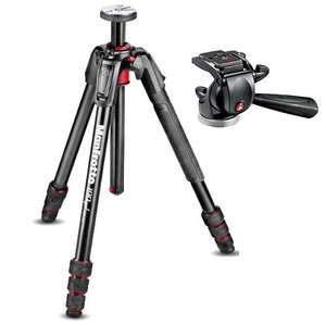 Manfrotto 190 Go! Aluminium M Series 4 Section Tripod with Free 391RC2 Head - £129.99 @ Jessops (£79.99 After Cashback)