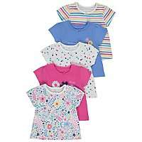 X5 Floral 100% Cotton T-shirts Sizes Upto 12 months Now £5 @ Asda ( Free Click & Collect )