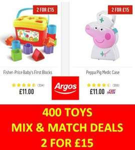Argos Toys Sale - 2 For £15 - Free Click and Collect