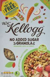 Kellogg's WK Kellogg No Added Sugar Simply Granola 1p @ Amazon Pantry (£3.99 delivery and must spend £15 to order)
