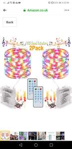 2 Pack Fairy Lights Battery Powered, Sound Activated Music String Lights 10M 100 LED - Sold by HOMOZE / FBA - £8.69 (+£4.49 NP)