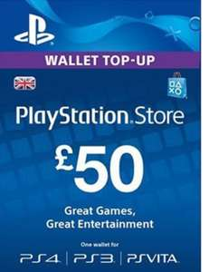 Playstation Network Top Up £50 for £41.75 at Electronic First