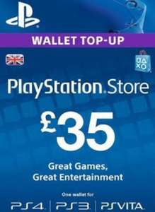 PSN £35 Top Up for £28.75 & £30 for £25.75 at Electronic First