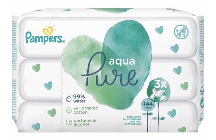 Pampers Aqua Pure Wipes (3x48) - £3.50 @ Morrisons