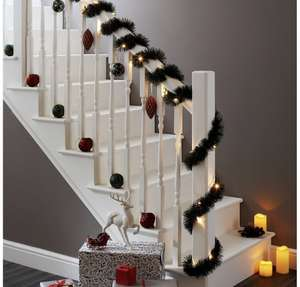 Christmas Pre-Lit LED Garland 5.4m - £7 @ B&Q (Free Collection)