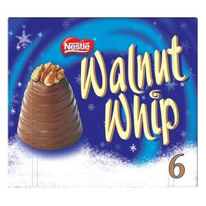 6 Walnut Whip - £2.00 @ Morrisons instore and online. £3 Tesco & Sainsburys.