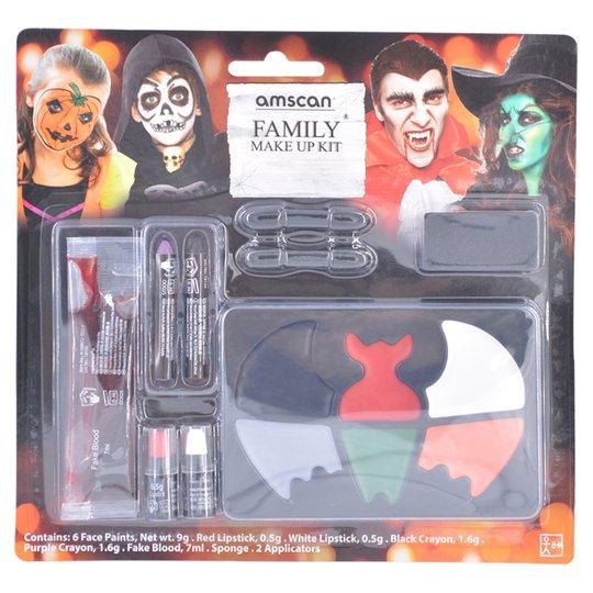 All Tesco Halloween Clothing Stock now 75% off (e.g Vampire Dress Up Set £1.25 / Halloween Projector Torch £0.38 /Make Up Kit £0.88) @ Tesco