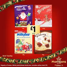 Dairy Milk, Milky Bar,Galaxy, Malteasers Advent Calendars Half Price £1.00 @ Morrisons