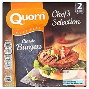 Quorn Chef's Selection 2 Meat Free Classic Burgers - Heron - 89p