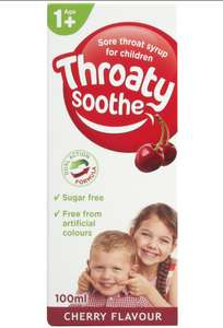 Throaty Soothe 100ml Cherry Flavour Sugar Free Syrup , Now 90p @ Poundstretcher ( Chester )