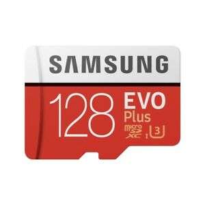 Samsung Memory 128GB EVO Plus Micro SD card with Adapter-up to 100MB/S £17.95 at samsungaccessoriesuk/ebay