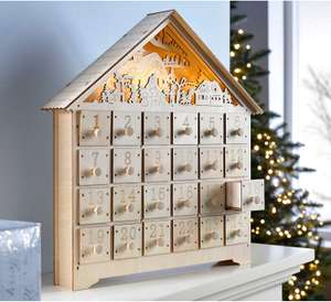Wooden Village Scene Advent Calendar Christmas Decoration £22.79 @ Amazon
