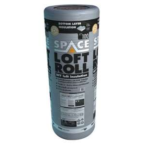 Knauf 100mm Space Bottom Layer Loft Roll Insulation - 8.3m2 £12 A Roll @ Wickes - Free Click & Collect