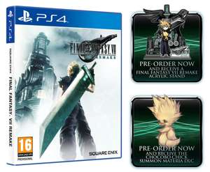 Final Fantasy VII Remake + FFVII Exclusive Cloud & Sephiroth Acrylic Stand + Chocobo Chick Summon Materia DLC - £47.85 - Shopto