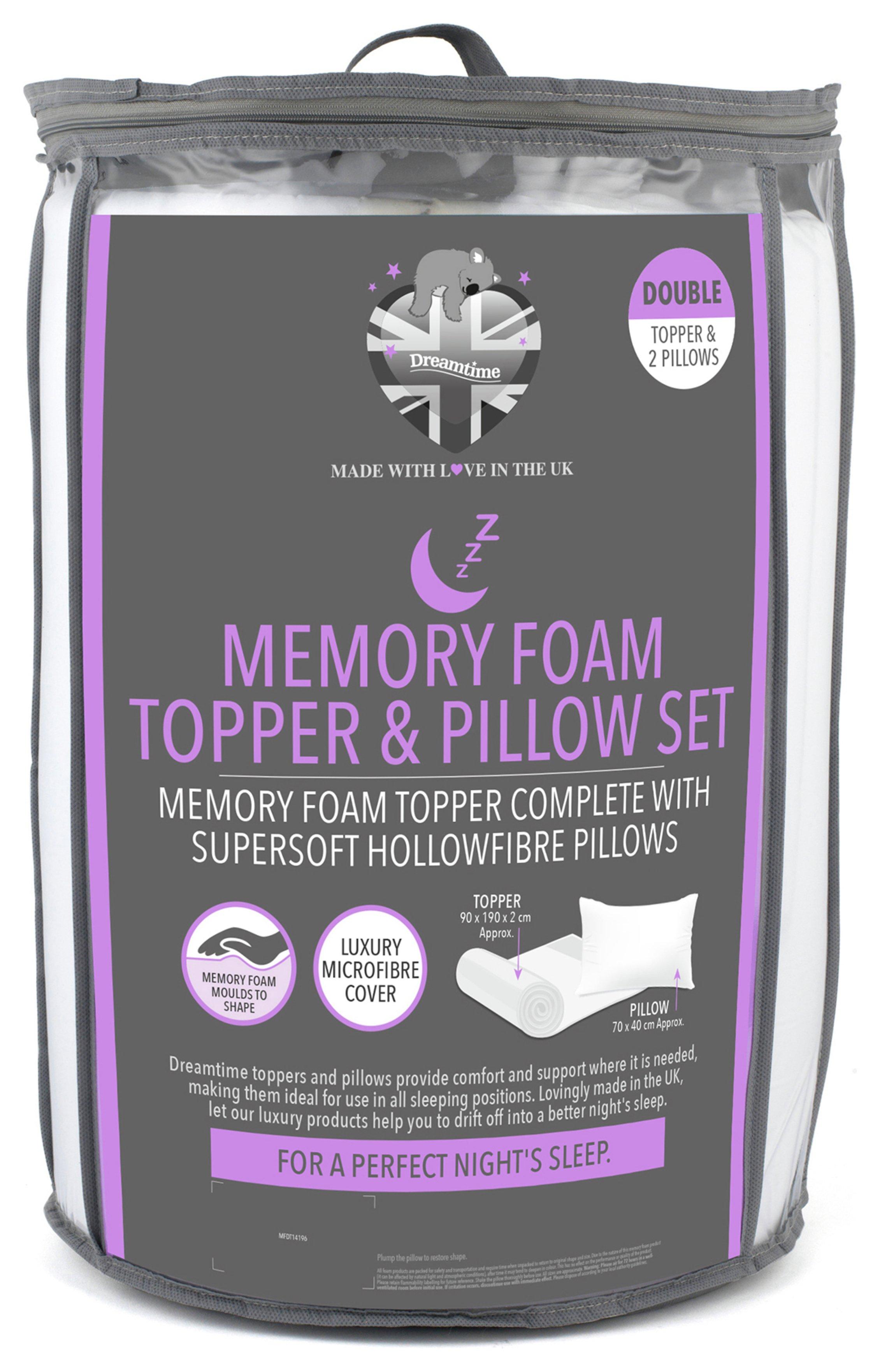 Memory foam mattress topper & pillow set - £36.63 @ Argos