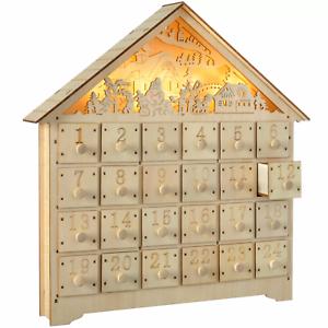 Wooden Advent Calendar (LED) £15.95 Delivered at Garden Mile on eBay