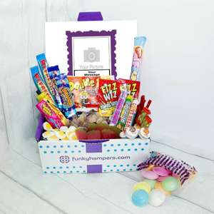 15% Off With No Minimum Spend - Personalised Large PicBox Sweet Hamper £17.39 @ Funky Hampers