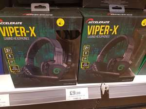 VIPER-X Gaming headset £9.99 and Gaming Keyboard and Mouse £12.99 HOME BARGAINS Belle vale Liverpool