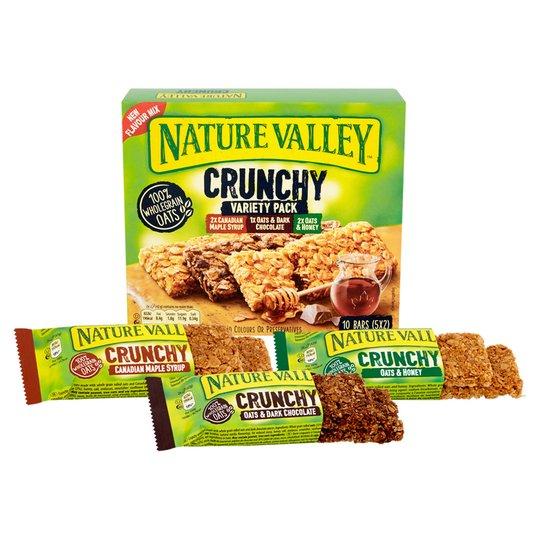 Nature Valley Crunchy granola Canadian maple, Oats & Chocolate, Oats & honey bars 5pack (10 bars) £1.19 @ Tesco Usually £2.39