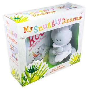 Mini hardback book of My Snuggly Dinosaur and cuddly dinosaur gift set for £5.99 delivered @ Books2Door