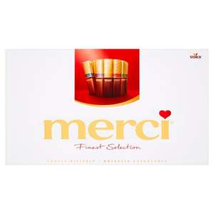Merci chocolates 400g was £8 now £5 @ Tesco