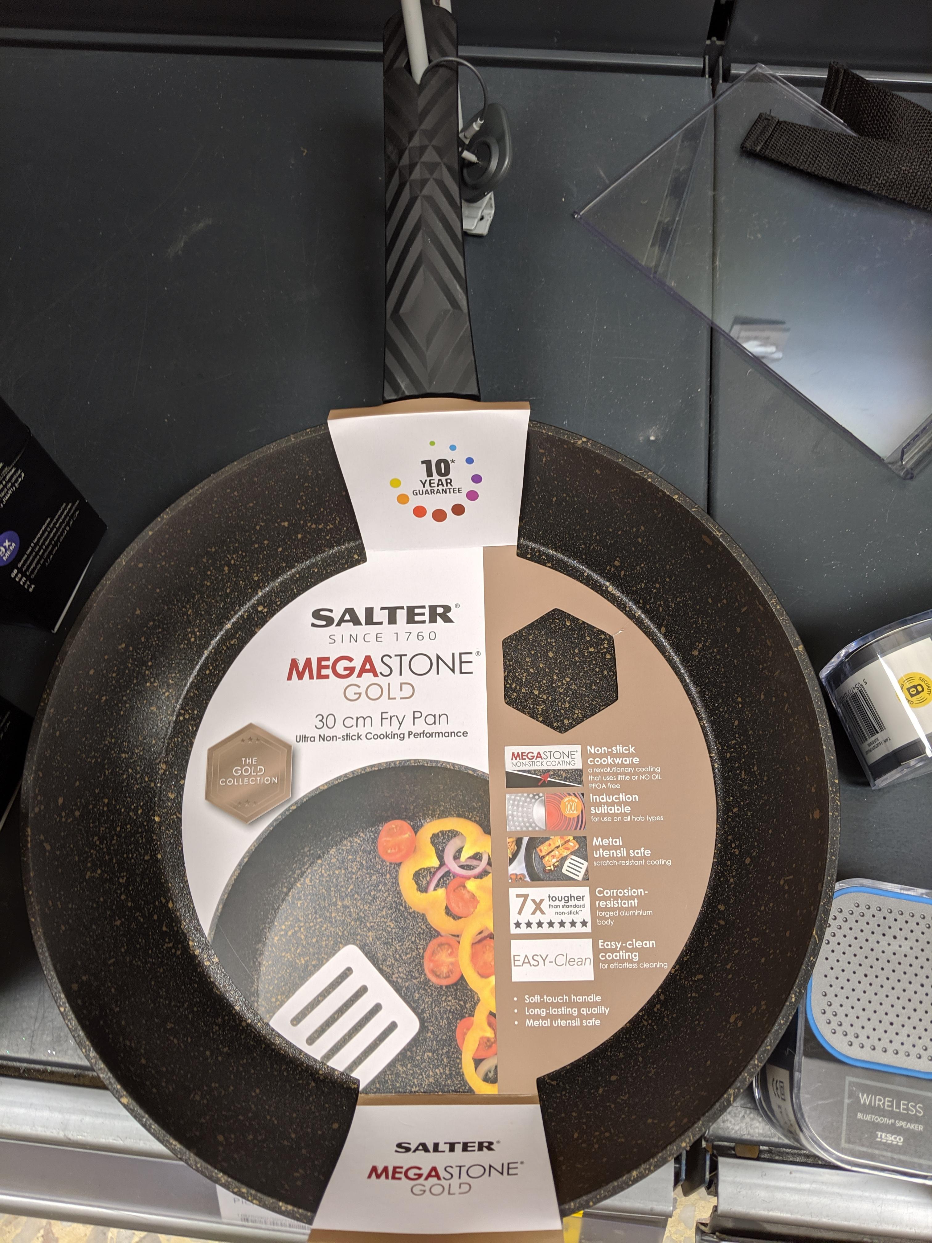 Salter Megastone Gold 30cm Fry Pan - £7.50 at Tesco In-store (Swindon)