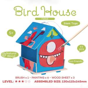 Children's DIY Bird House (Build & Paint) - £2.99 (Prime) £7.48 (Non Prime) @ Sold by Robotime and Fulfilled by Amazon.