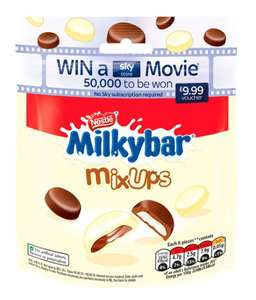 Nestle sweets e.g Milkybar Mix Ups £1 @ Tesco - includes Sky Movies competition code