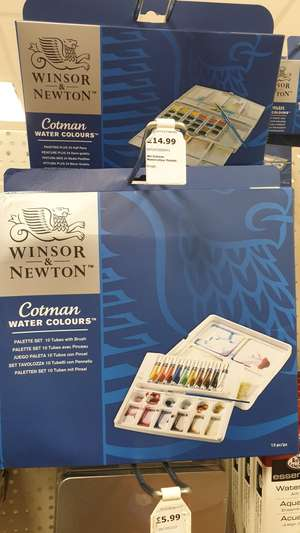 Windsor & Newton ×10 watercolour tubes 8ml with brush and pallet - £14.99 at Carmarthen Range