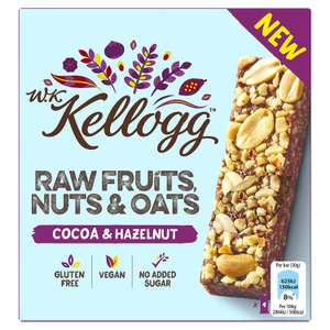 Kellogg's WK Kellogg Raw Fruits, Nuts and Oats Bars, Cocoa and Hazelnut 1p plus £3.99 delivery at Amazon Pantry