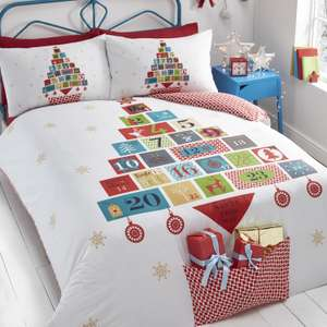 Christmas Advent theme duvet set single £12.99 @ The Range