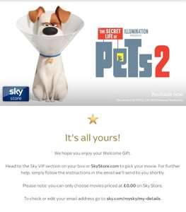 Free Sky Store Movie Via Sky VIP for new Sky VIP customers only - multiple movies to select from at Sky Store