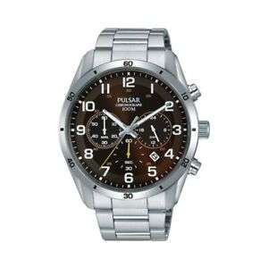 Pulsar Mens Watch Quartz Stainless Steel Brown Face with Chrono & Date PT3843X1 for £27.75 Delivered @ goto7dayshop/Ebay