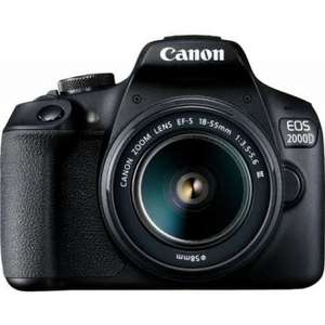 Canon EOS 2000D Kit with 18-55 III Lens Digital SLR Cameras £233.99 at eGlobal Central