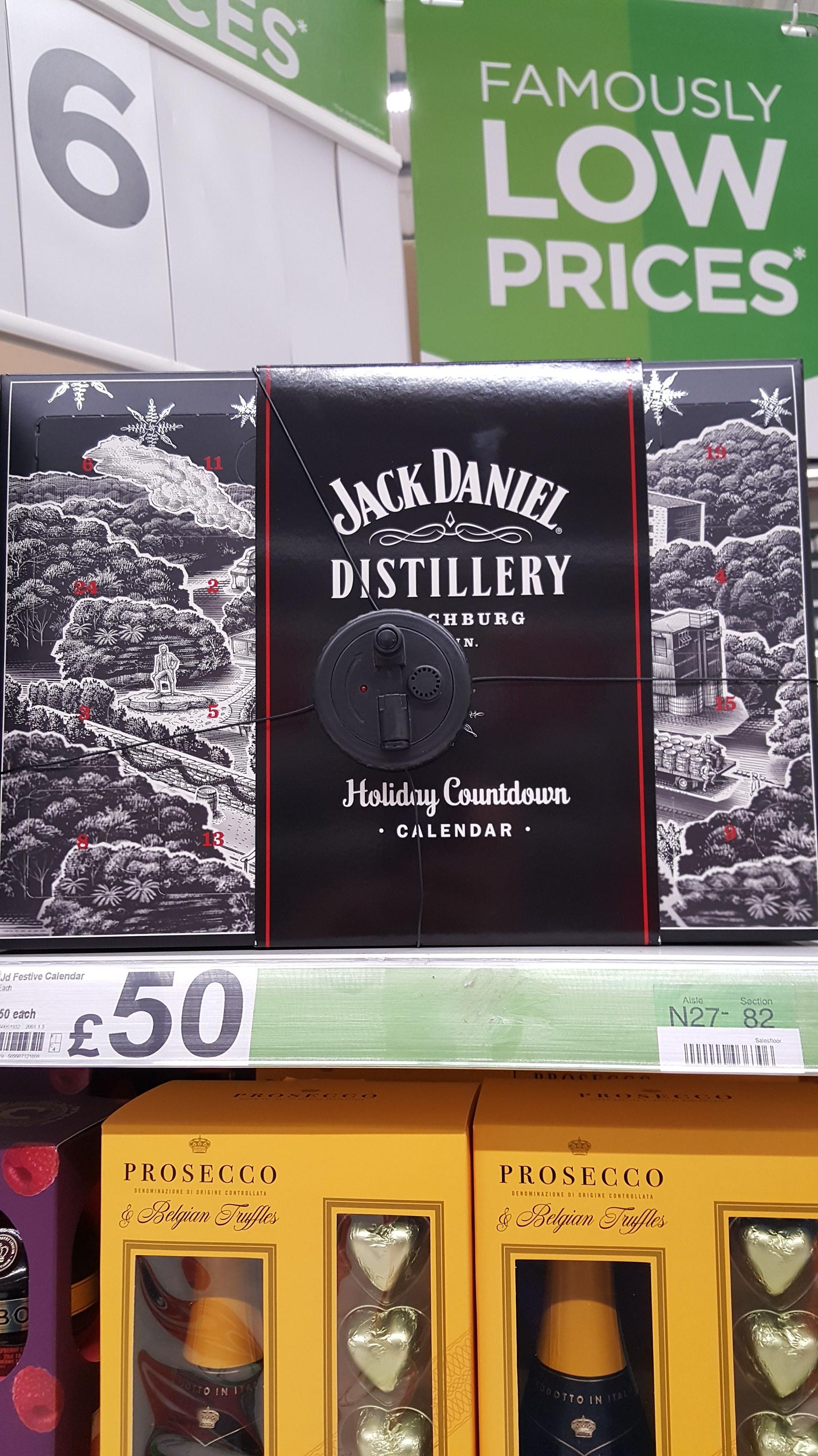 Jack Daniels Advent Calendar £50 at Asda Cannock Staffordshire