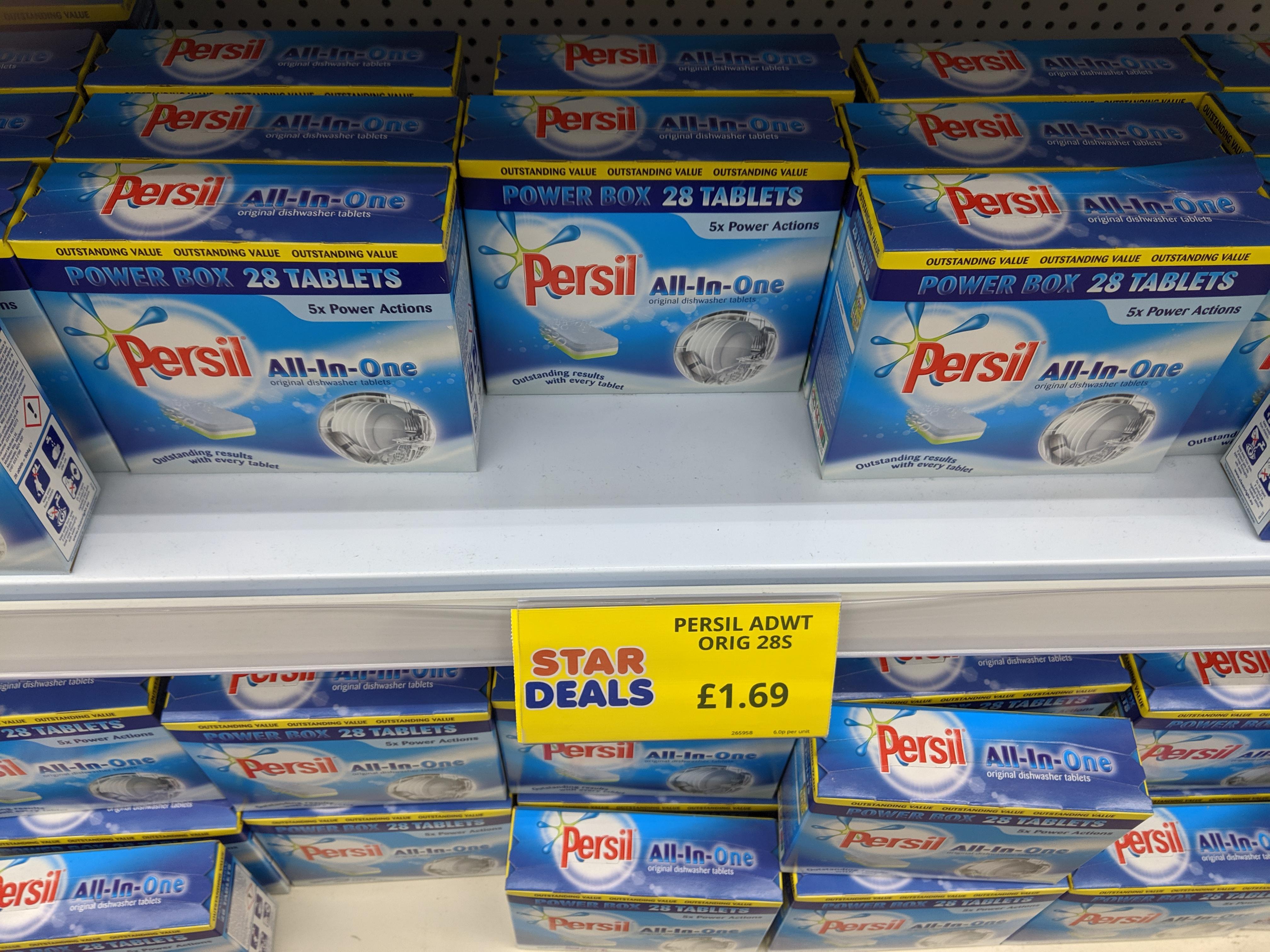 Persil 28 dishwasher tablets £1.69 - Bargain Buys/Poundstretcher Aldershot