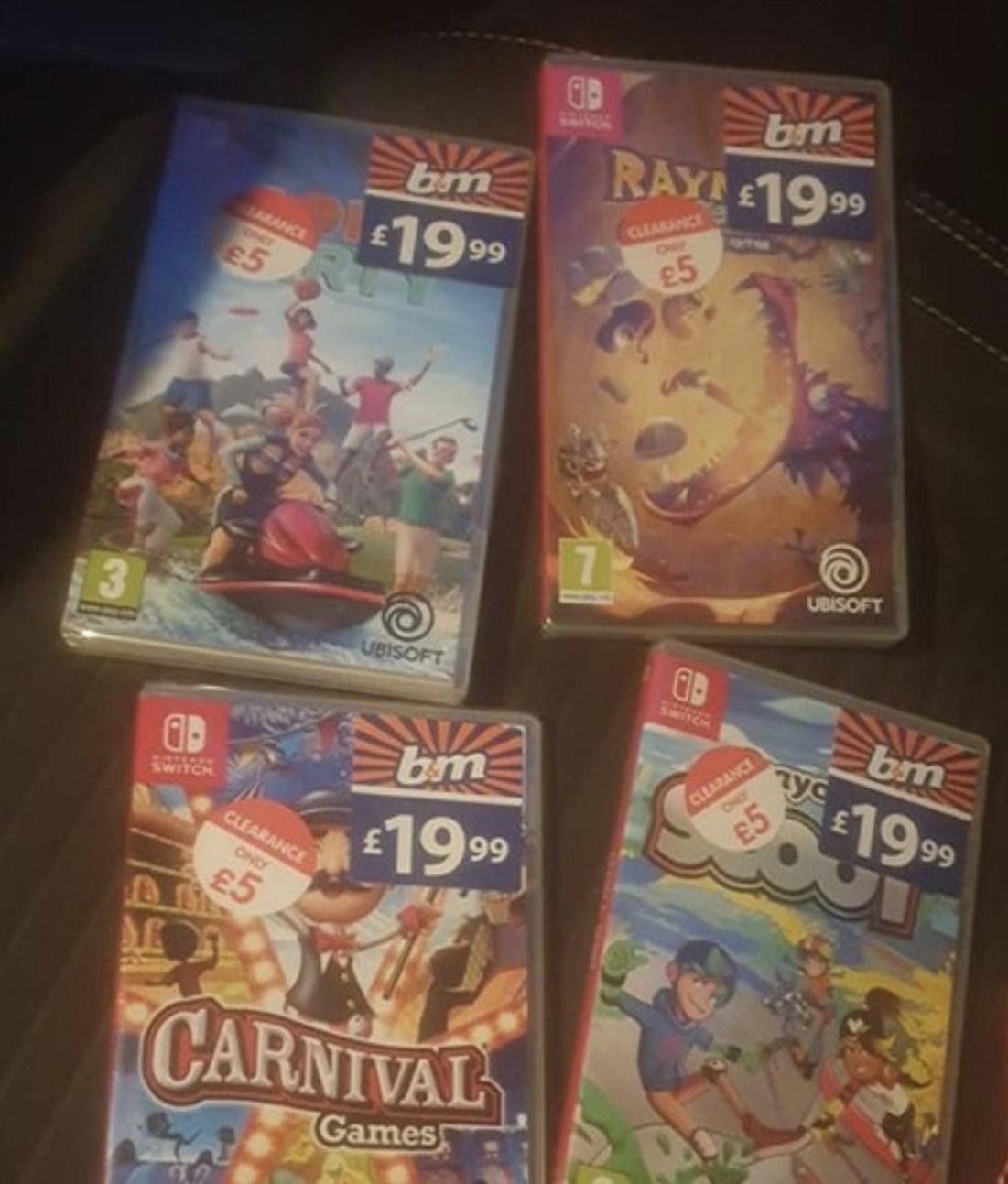 Nintendo Switch Games - £5 at B&M instore - Bognor Regis